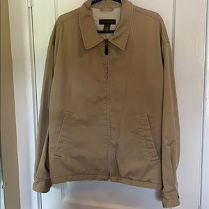 Men's khaki Banana Republic Zip up Jacket XL